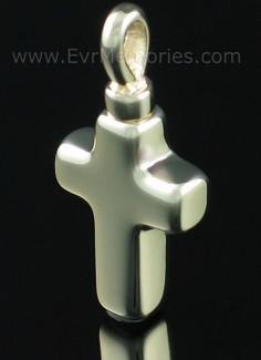 14K Gold Small Cross Jewelry Urn