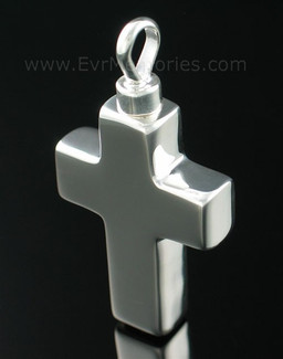 Sterling Silver Large Cross Jewelry Urn