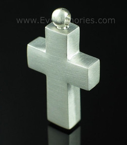 Pewter Cross Funeral Jewelry