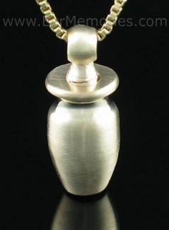 14K Gold Small Urn Memorial Locket