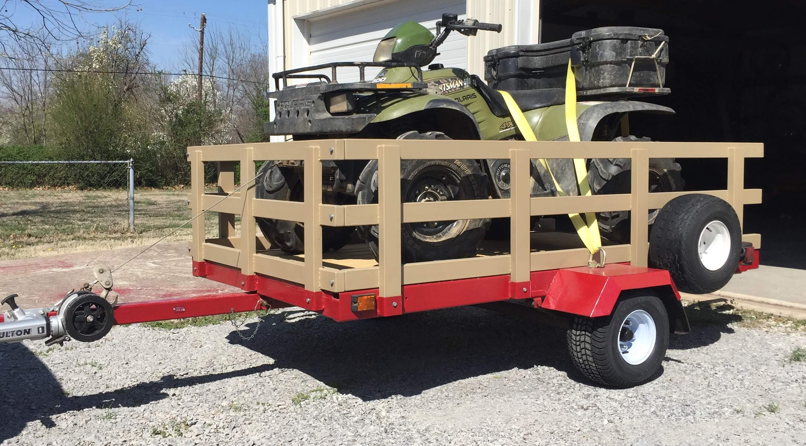 Customer picture of ATV on trailer