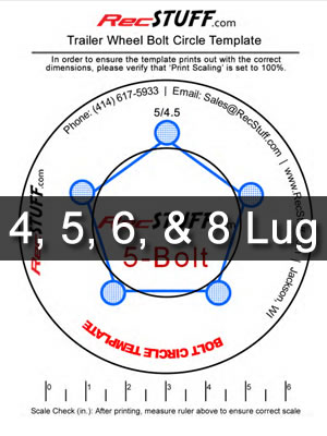 picture regarding Star Wheel Printable named Trailer Wheel Bolt Behavior Template -
