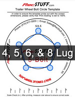 picture regarding Star Wheel Printable named Trailer Wheel Bolt Behavior Template -