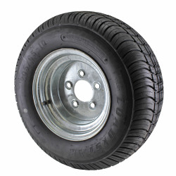 20.5X8.00-10 Loadstar Trailer Tire LRE on 5 Bolt Galvanized Wheel