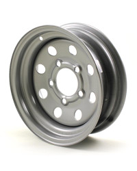 "12X4 5-Lug on 4.5"" Silver Mod Trailer Wheel - KWC"