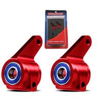 New Traxxas 3636X Aluminum Steering Blocks RED Nitro Slash / Grave Digger / Mutt