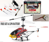 EZ Fly RC Hover CX Mini RTF 3 Ch Heli w/ RED Canopy w/ FREE Kit & Lipo Battery