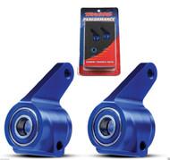 New Traxxas 3636A Aluminum Steering Blocks Blue Nitro Slash / Grave Digger /Mutt