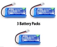 Latest 3 Packs of E-Flite MCP X BL 200mAh 2S 7.4V 30C LiPo Battery # EFLB2002S30