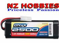 Duratrax Onyx NiMH 6C 7.2V 2500mAh Stick Standard Plug DTXC2045