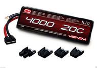 Venom 1580 LiPo 3S 11.1V 4000mAh 20C LIPO BATTERY TRX DEANS EC3 TAMIYA CONNECTER
