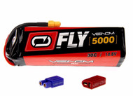 Venom Fly 30C 4S 5000mAh 14.8V LiPo Battery with UNI 2.0 Plug EC3, XT60, DEANS