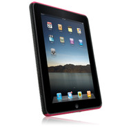 New Naztech Branded Vertex 3-Layer Pink and Black Covers for Apple iPad # 11184
