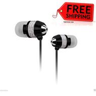 New NoiseHush NX40 3.5mm Hi-Fi Stereo Sound Headset - Black/Silver # NX40-11672
