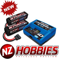 Traxxas 2993 EZ-Peak Charger w/ Two 6700mAh 25C 4S iD LiPo Batteries: X-MAXX