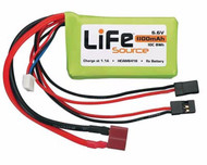 Hobbico HCAM6416 LiFeSource LiFe 6.6V 1100mAh 10C Rx U Connector 10CHG