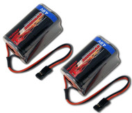 Combo: 2 pcs Tenergy 4.8V 2000mAh NiMH Square Receiver RX Battery RC #11002