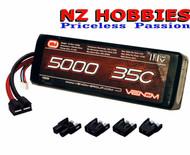 Venom 15026 3S 11.1V 5000mAh 35C Lipo Battery : Traxxas Tamiya EC3 Deans Plugs
