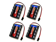 4 x Tenergy 6V 2000mAh NiMH RX Receiver Battery Pack for Airplane #11106