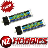 Lectron 1S 3.7V 220mAh 45C Lipo Battery 2-Pack : Tiny Whoop