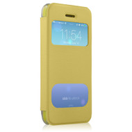 New HyperGear ID Flip Cover with Clear Back for Apple iPhone 5c - Yellow # 12792