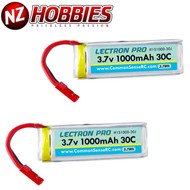 Lectron 1S 3.7V 1000mAh LiPo (2) Battery Packs : Dromida Ominus / Vista Quad