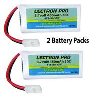 H107C H107D New Lectron 3.7V 380mAh 20C 6x LiPO Battery for Hubsan X4 H107L