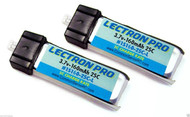 2 Lectron 1S 3.7V 160mAh 25C Lipo Battery FOR HobbyZone Champ Force FHX/MH-35