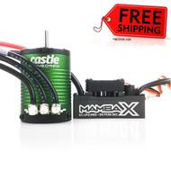 Castle Creations CSE010015503 Mamba X Sensored 25.2V Waterproof 1406-6900Kv Combo