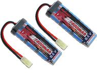 New Tenergy 2 pcs 8.4V NiMH 1600mAh Mini Flat (Brick) Airsoft Battery