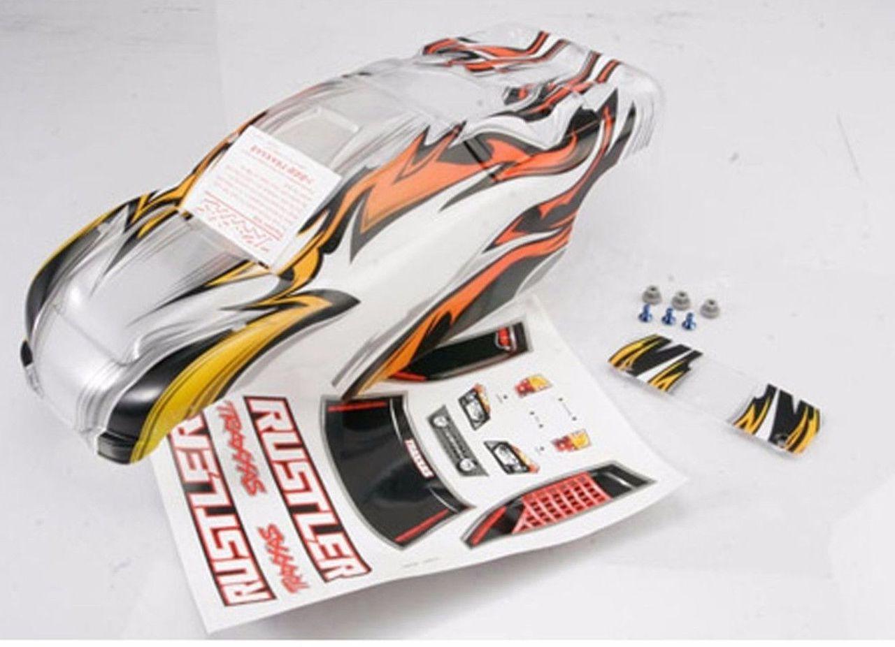 traxxas 3717 rustler pro graphics prographix body 1 10 rustler xl Traxxas T-Maxx Upgrades image 1