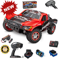Traxxas 68086-4 Slash 4x4 VXL Brushless RTR RED Short Course Racing Truck TSM w/ Battery & Charger