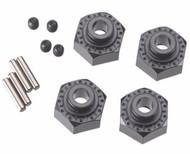 Axial AX30429 Aluminum Hex Hub 12mm Black (4) YETI / WRAITH / RR10 / DEADBOLT