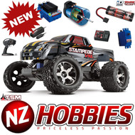 Traxxas 1/10 Stampede VXL Brushless Truck 2WD Silver RTR /TQi /TSM /iD Battery