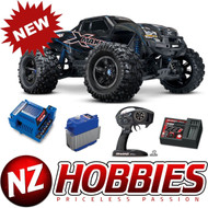 Traxxas 77086-4 X-Maxx 4WD 8s-Capable Brushless Electric Monster (BLUE)