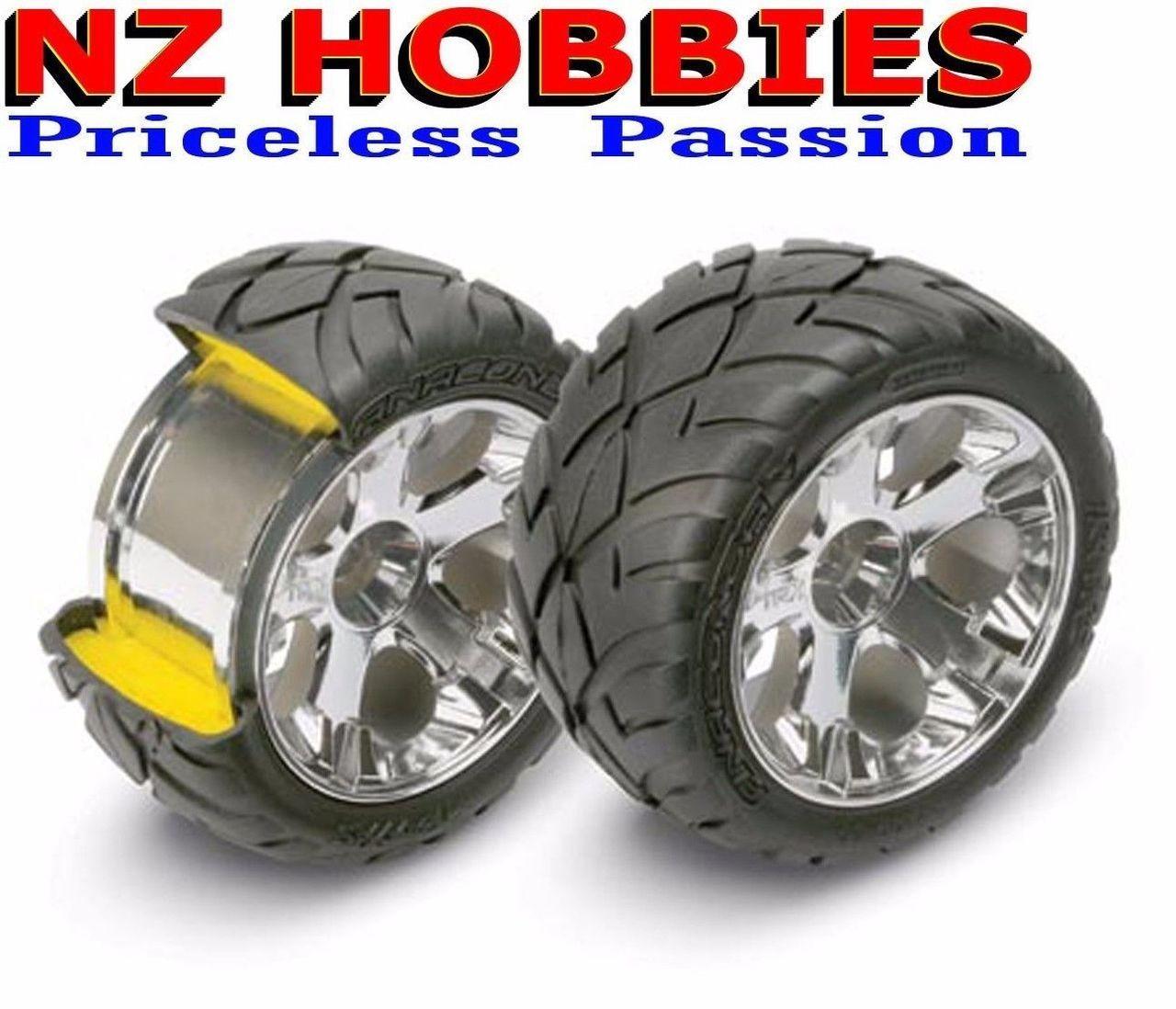 Toys & Hobbies Radio Control & Control Line Traxxas 5577A Front All-Star 2.8'' BK Chrome Wheels Nitro Stampede Rustler Jato