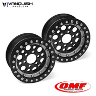 Vanquish Products VPS05228 OMF 1.9 OUTLAW II WHEEL SET BLACK/CLEAR