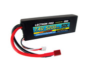 Lectron Pro 7.4V 5200mAh 50C Lipo Battery w/ Deans-Type Connector for 1/10th Scale Cars & Trucks - Team Associated etc.