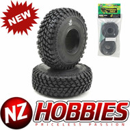 "Pit Bull Tires Growler AT/Extra 1.9"" Scale Rock Crawler Tires (2) Alien w/Foams"