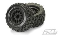 "Proline 1012514 Badlands MX28 2.8"" (Traxxas Style Bead) All Terrain Tires Mounted"