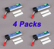 Latest 4 pcs Blade 180 QX 500mAh 1-Cell 3.7V 25C LiPo Battery 180QX EFLB5001S25