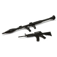 INTEGY INTC25428 Realistic 1/10 Scale Rifle & Rocket Launcher Set