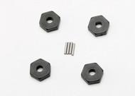 Traxxas 7154 Wheel hubs, hex (4)/ axle pins (1.5x8mm) (4)
