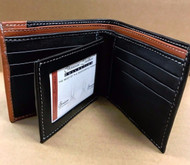 Bifold Wallet Men's Genuine Leather Center Flap Credit/ID Card Holder Slim Purse