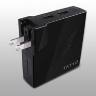 Tattu 2in1 Portable Power Bank Wall Charger 5200mAh w/ Foldable AC Plug for iPhone, iPad, Android phone, Tablets and More