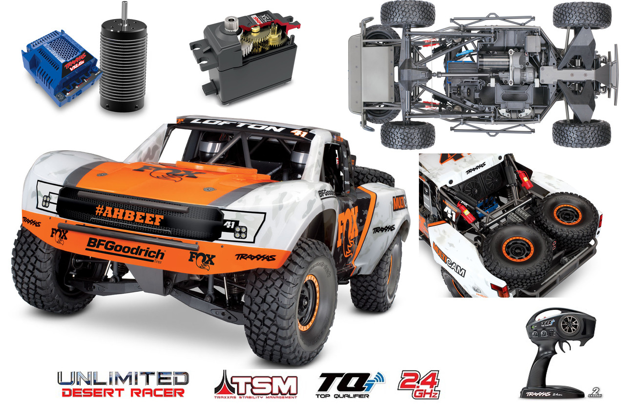 Traxxas 85076-4 Unlimited Desert Racer : 4WD Electric Race Truck w/ TQi  Traxxas Link Enabled 2 4GHz Radio System
