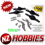Ottsix Racing TKO-10V2 Axle Housing Kit w/ Trusses : 1/10 Rock Crawler : SCX10
