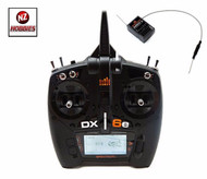 SPEKTRUM 2.4GHZ DX6e DSMX 6-Channel Transmitter w/ AR610 Receiver HELI T-REX SP
