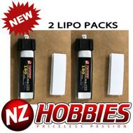 NZHOBBIES 1S 3.7V 180Mah 45C Lipo Battery (2) : Blade Nano CP X MSR MSR X MSRX