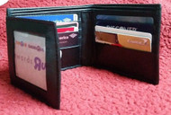New Men's Genuine Leather Wallet Bifold Trifold Style Hybrid Foldout ID Case